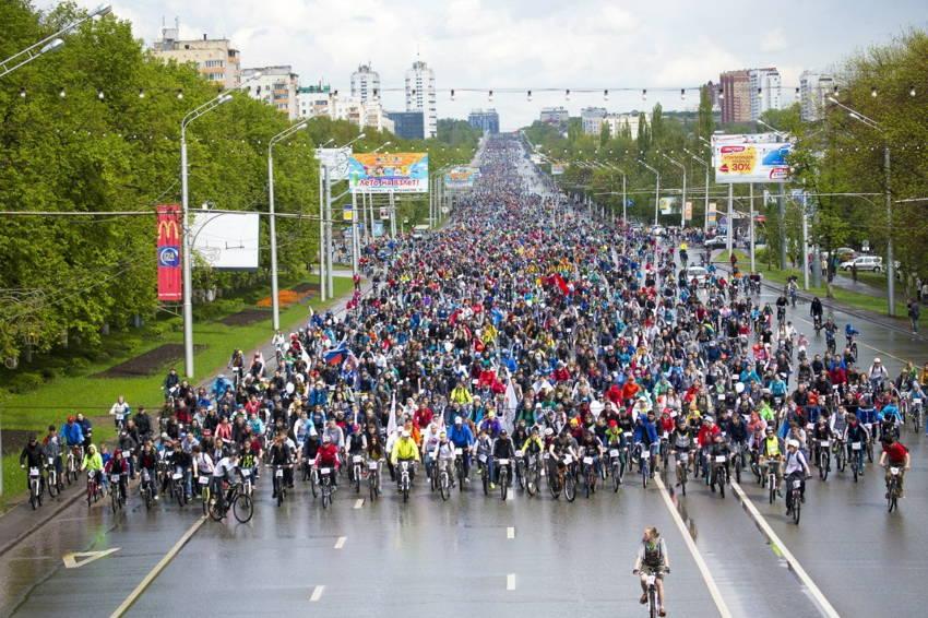 Велопарад День 1000 велосипедистов