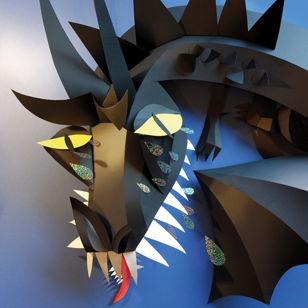 Открытка. Бумажная скульптура